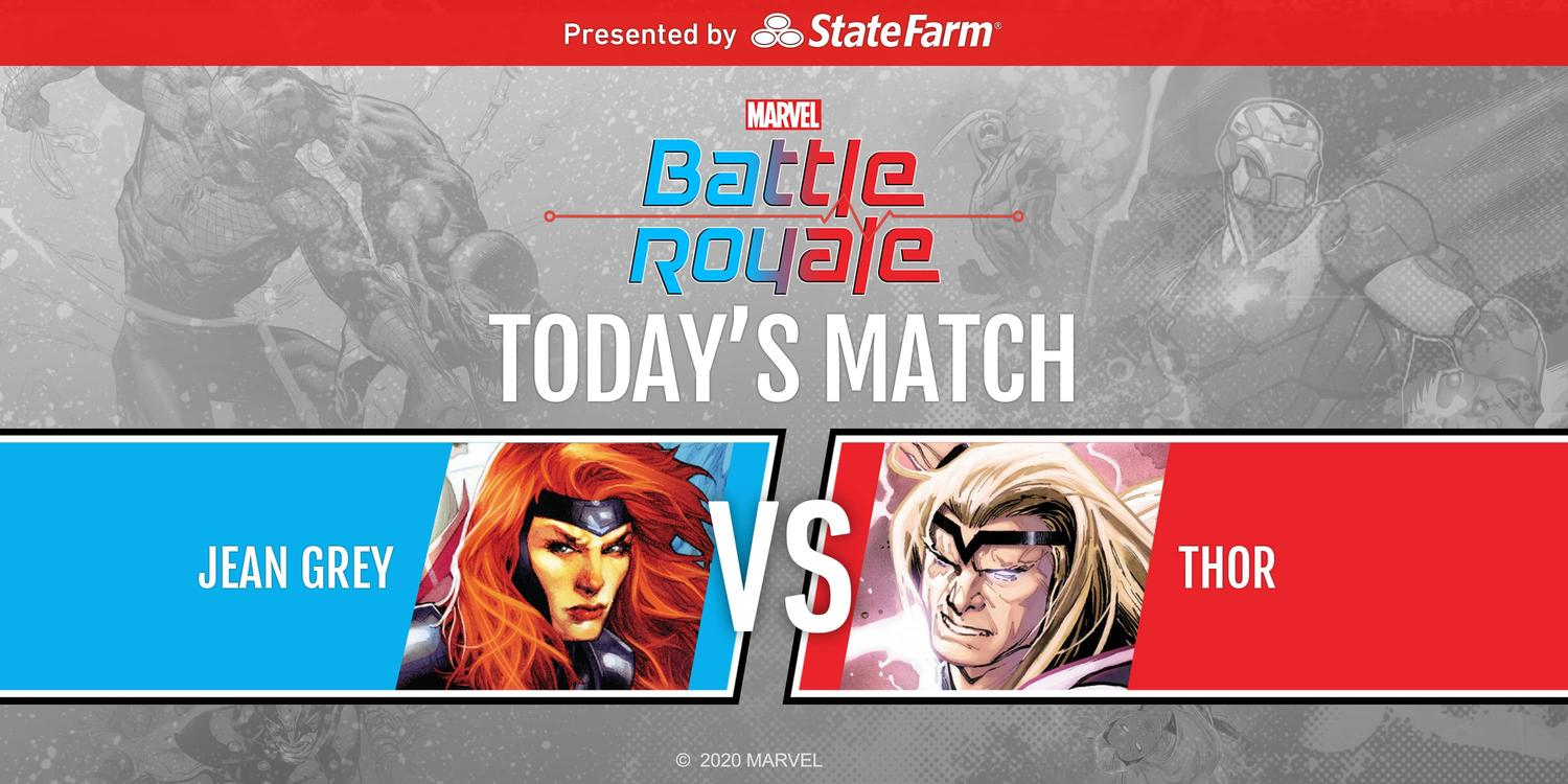 Marvel Battle Royale 2020 Championship Final Matchup Jean Grey vs. Thor