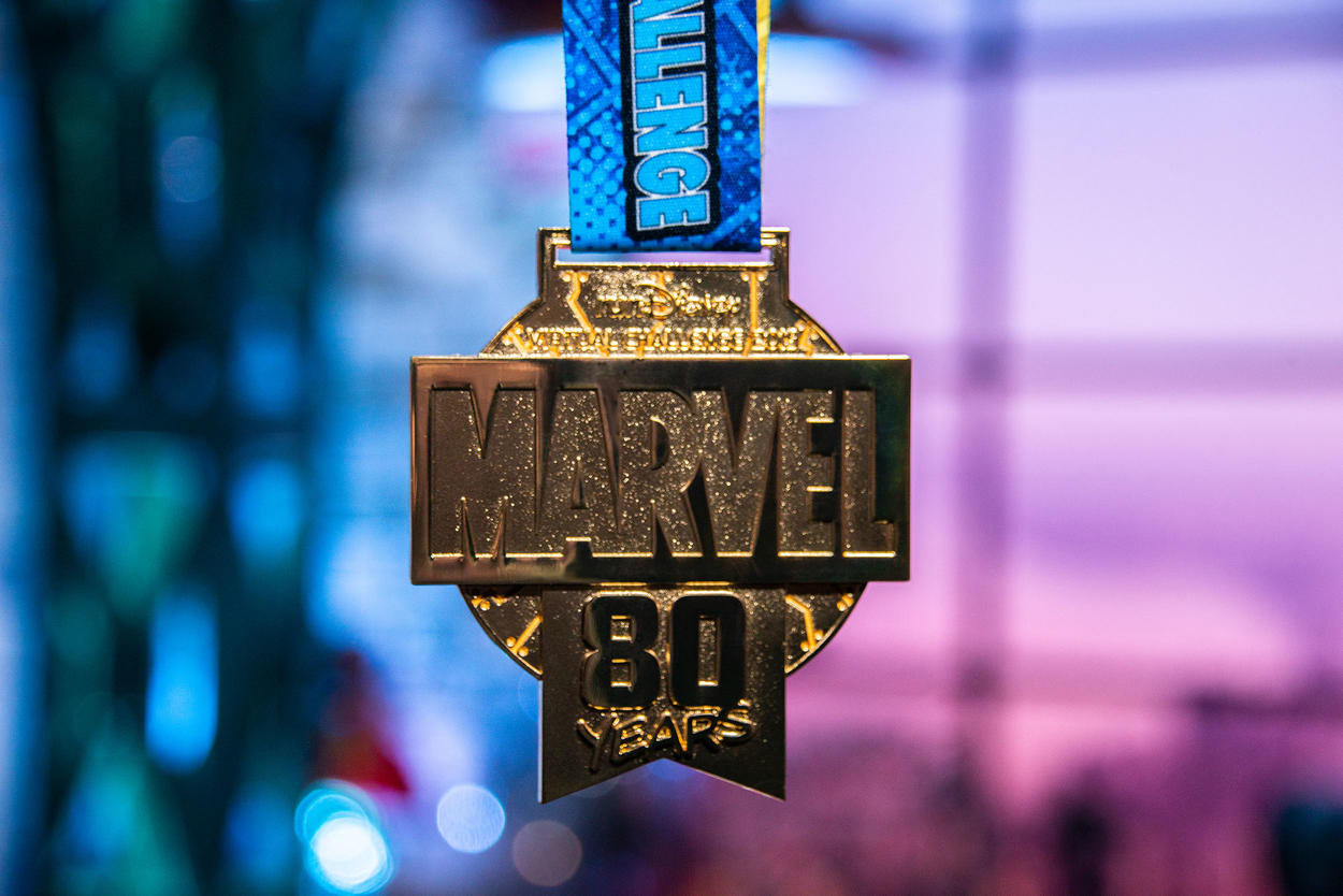 runDisney Marvel 80th medal