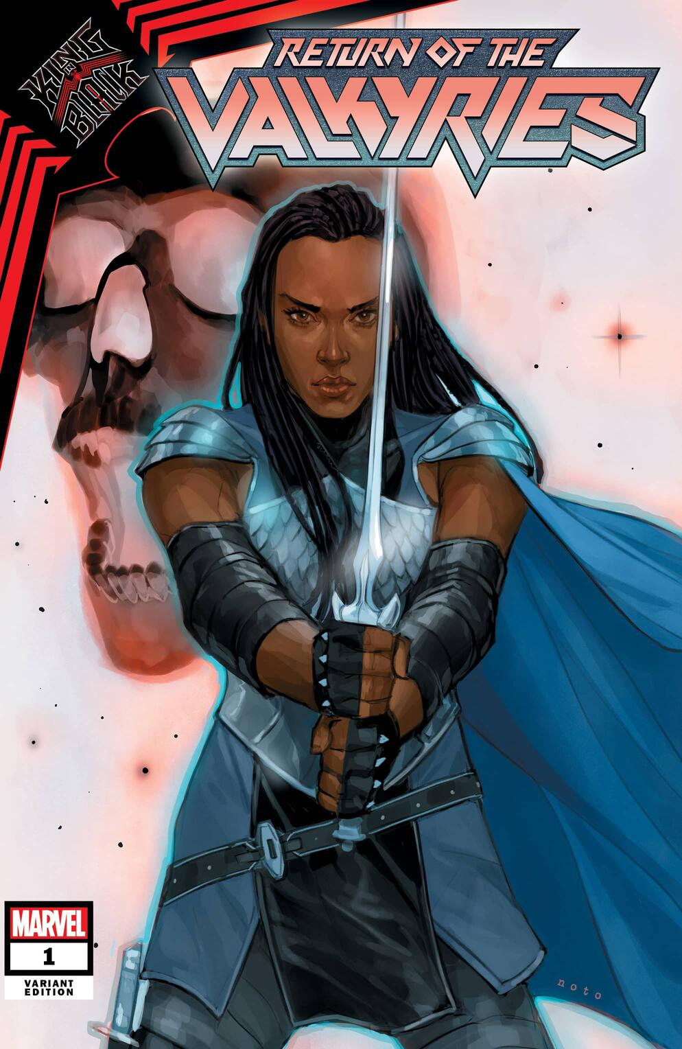 KING IN BLACK: RETURN OF THE VALKYRIES #1 variant cover by Phil Noto