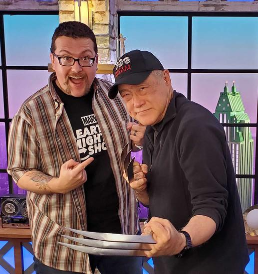 "Ryan ""Agent M"" Penagos and Larry Hama at This Week in Marvel"