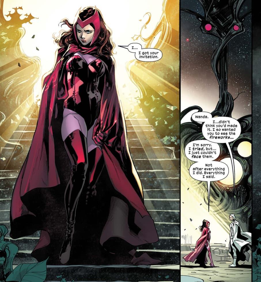 Wanda accepts Magneto's invite to the Hellfire Gala in S.W.O.R.D. (2020) #6.