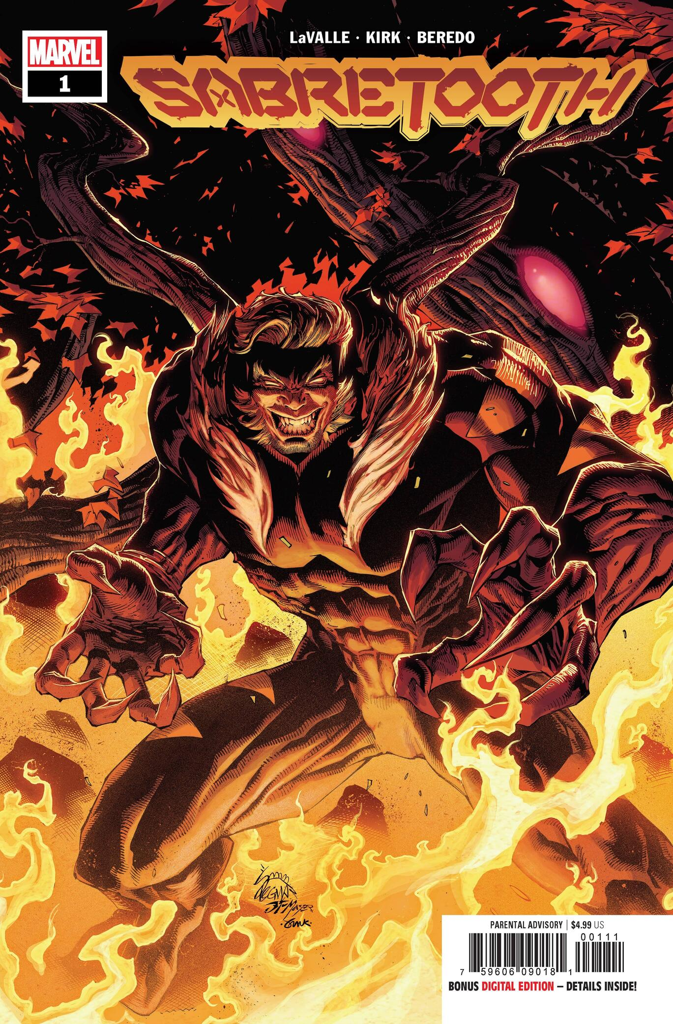 SABRETOOTH #1 Cover by Ryan Stegman, JP Mayer, and Frank Martin