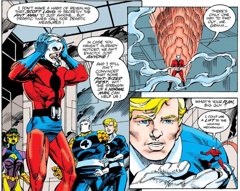 Scott Lang helps out the Fantastic Four
