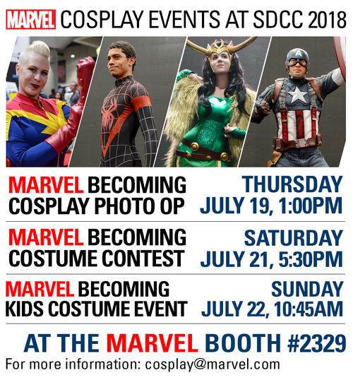 SDCC 2018 Cosplay events schedule
