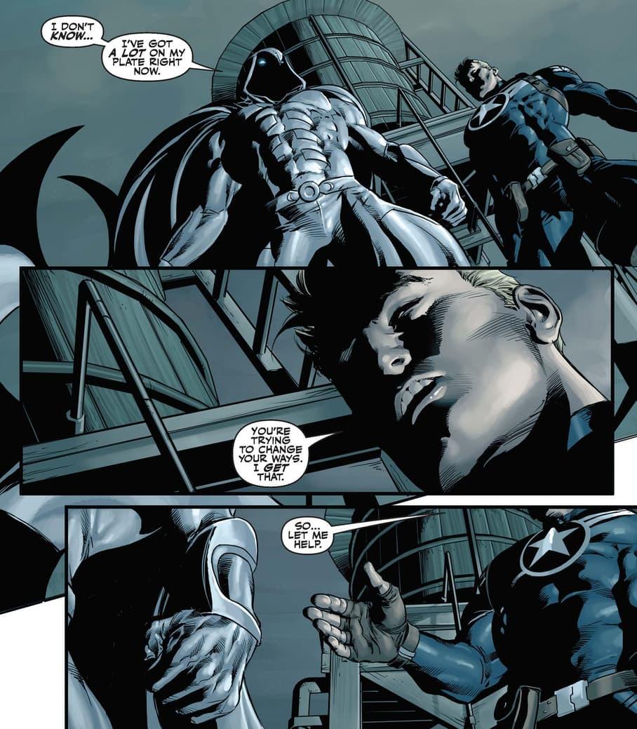 Steve Rogers makes an offer in SECRET AVENGERS (2010) #1.