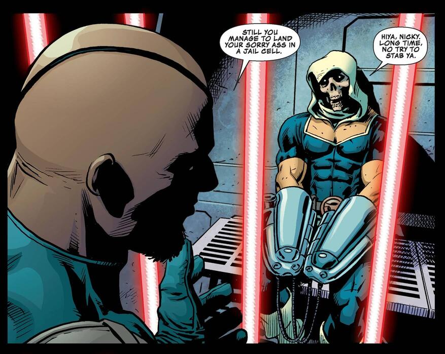 Nick Fury recruits Taskmaster.