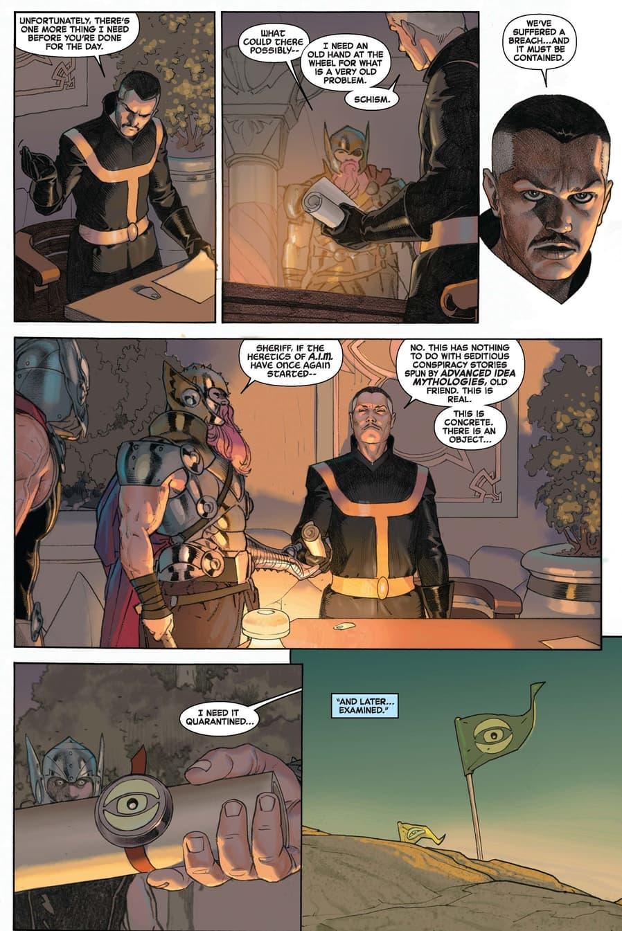 Sheriff Strange gives the orders in SECRET WARS (2015) #2.