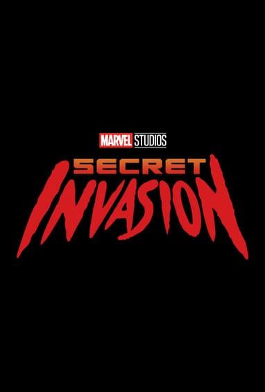 Marvel Studios Secret Invasion Disney Plus TV Show Season 1 Logo on Black