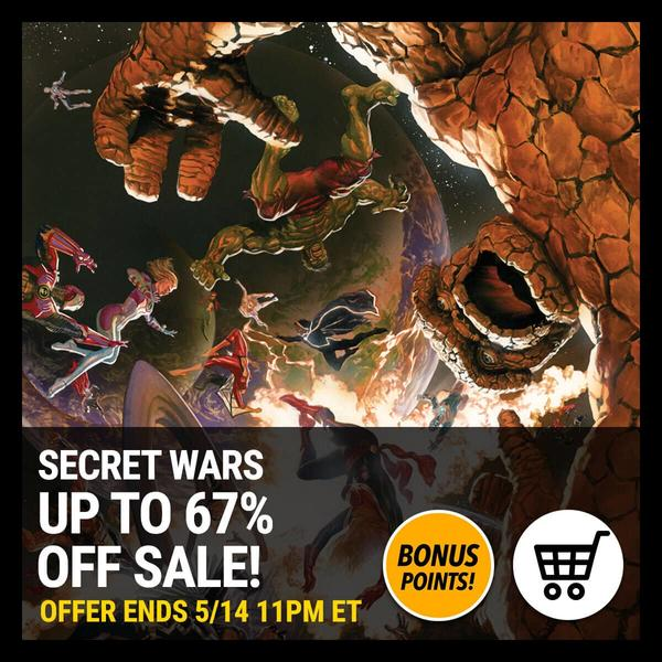 Marvel Insider Digital Comics Sale SECRET WARS Up to 67% off