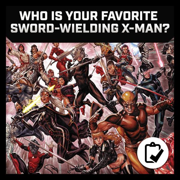 Marvel Insider September Survey Who Is Your Favorite Sword-Wielding X-Man?