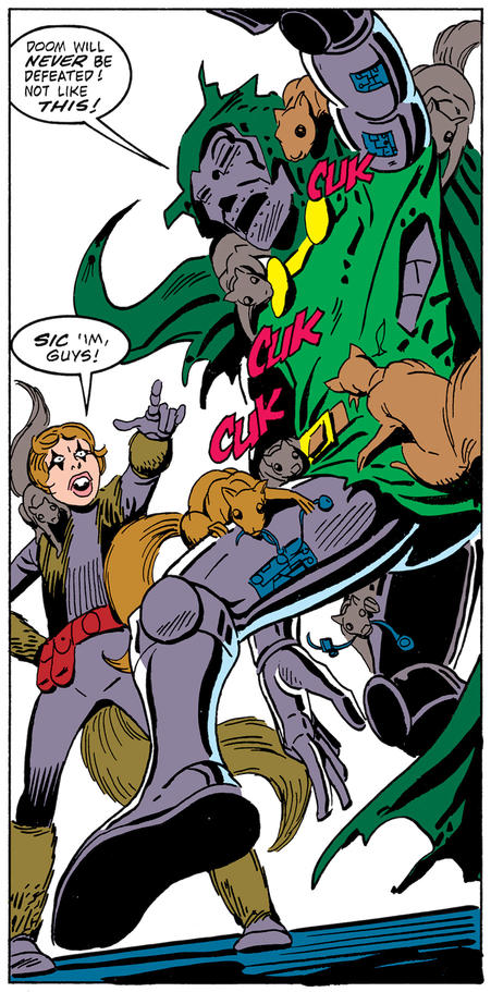 Squirrel Girl panel by Steve Ditko