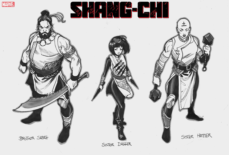 Shang-Chi character designs