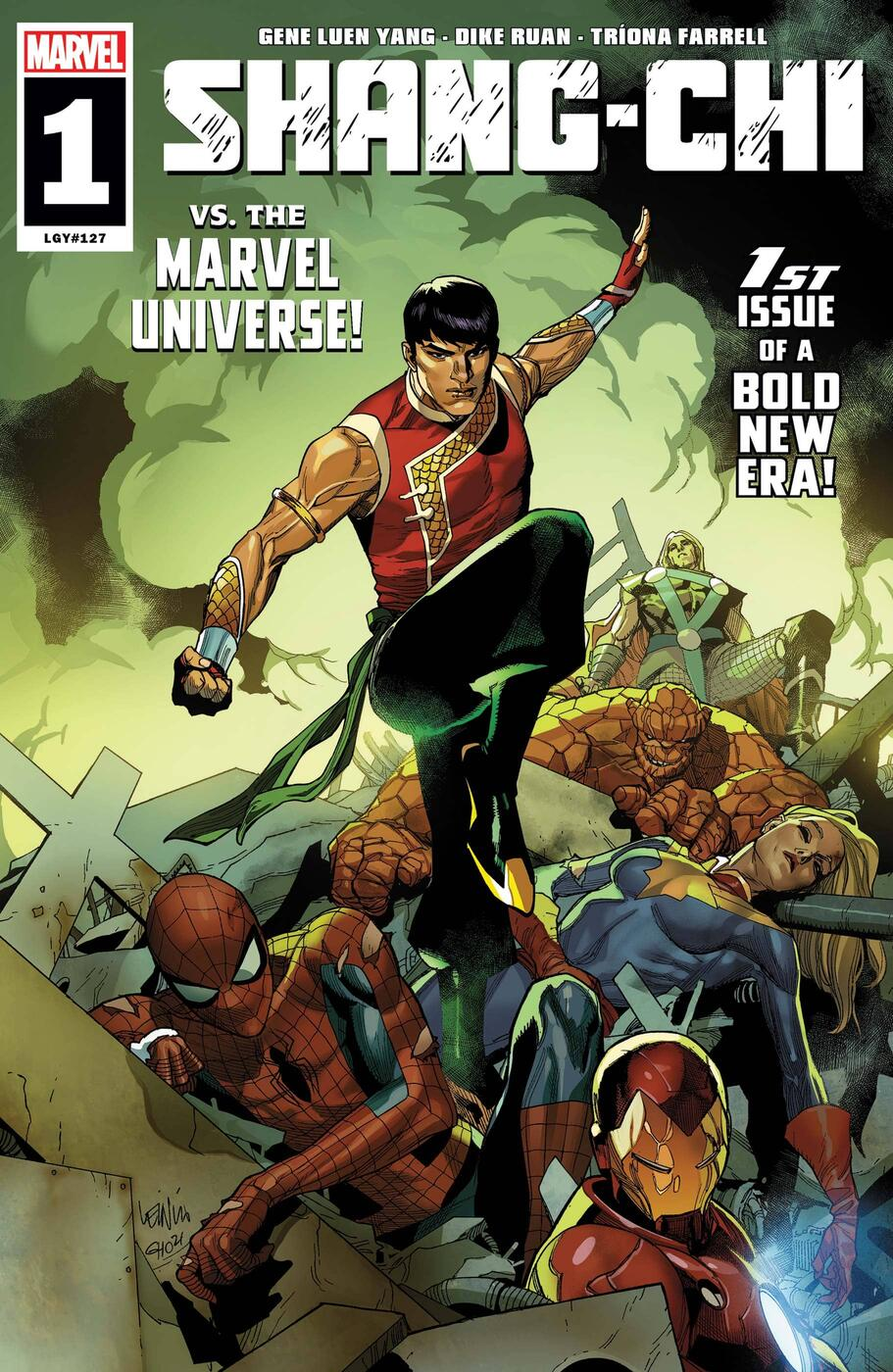 Cover to Shang-Chi (2021) #1.