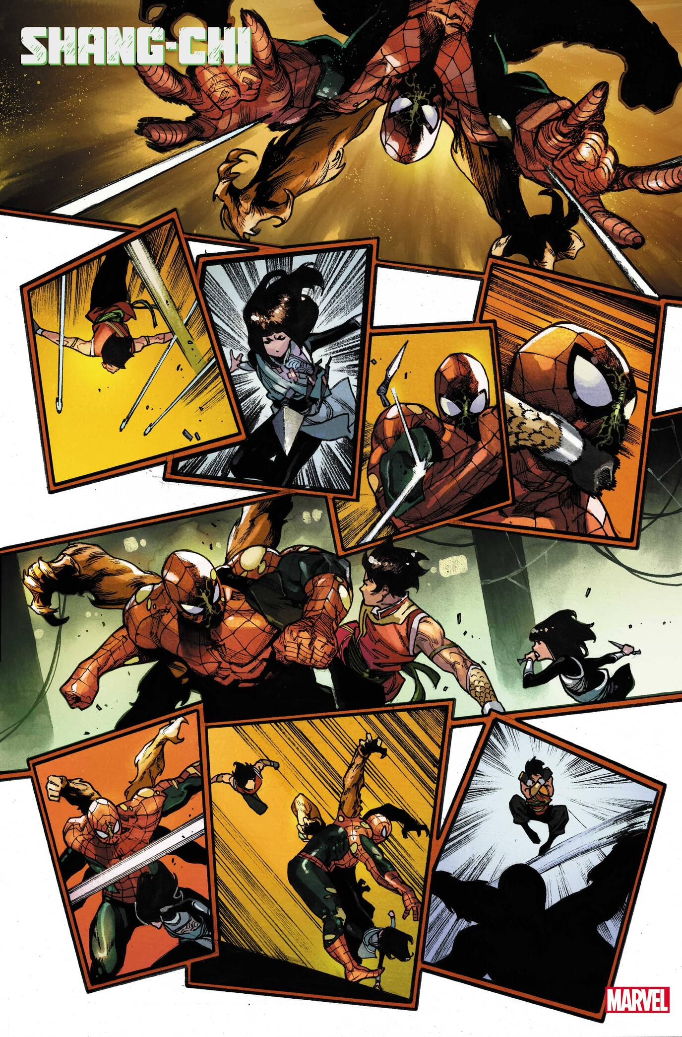 SHANG-CHI (2021) #1 interior art by Dike Ruan with colors by Tríona Farrell