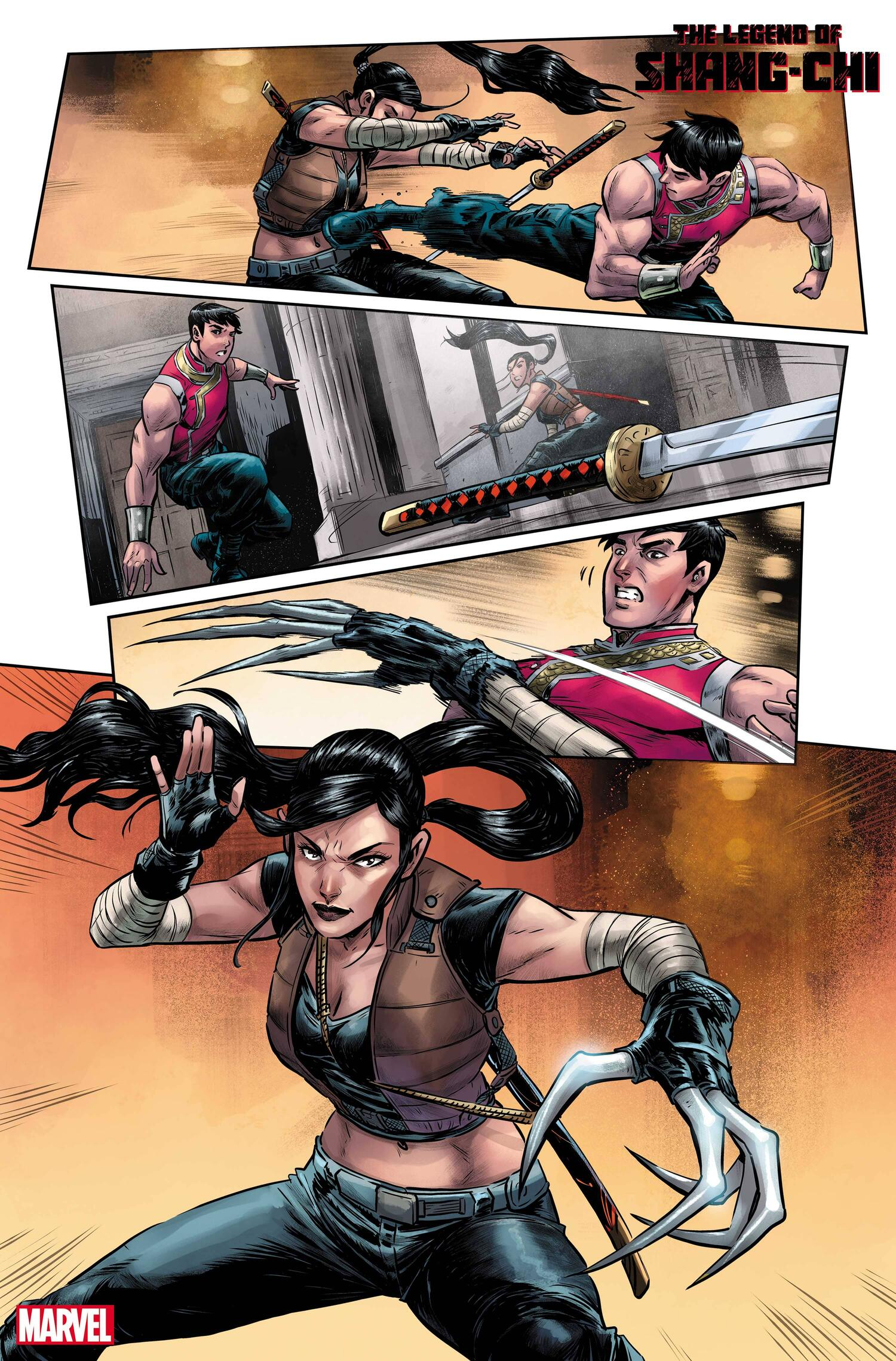 THE LEGEND OF SHANG-CHI #1 art by Andie Tong with colors by Rachelle Rosenberg