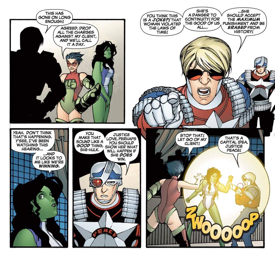 Justices Peace and Love in SHE-HULK (2005) #3