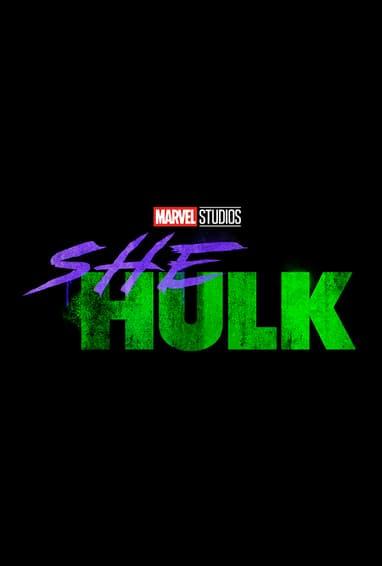Marvel Studios She-Hulk Disney Plus TV Show Season 1 Logo on Black