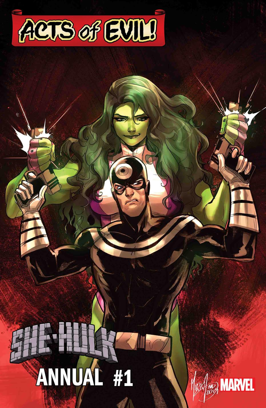 She-Hulk vs Bullseye