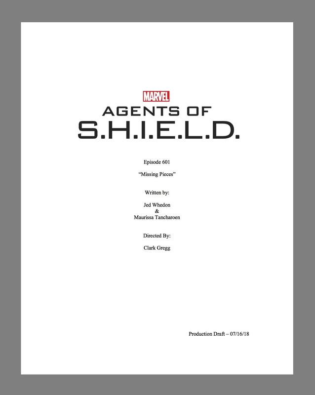 """Marvel's Agents of S.H.I.E.L.D."" script"