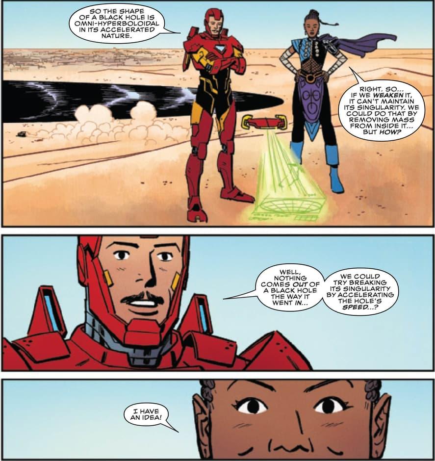 Shuri and Tony Stark