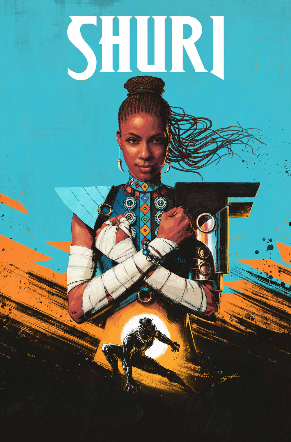 SHURI #1 cover by Sam Spratt