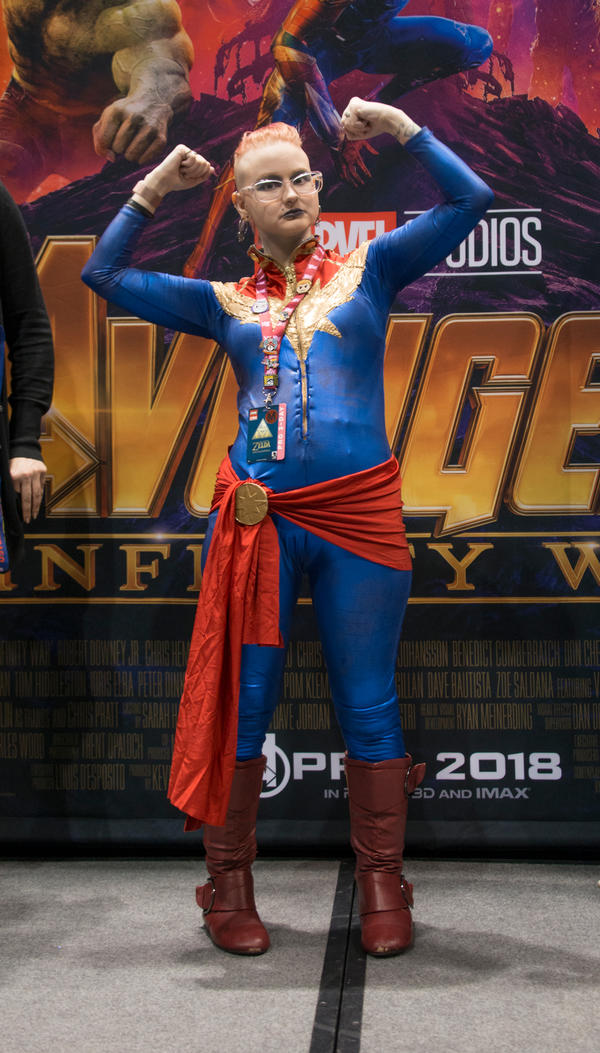 Sid Suicide as Captain Marvel