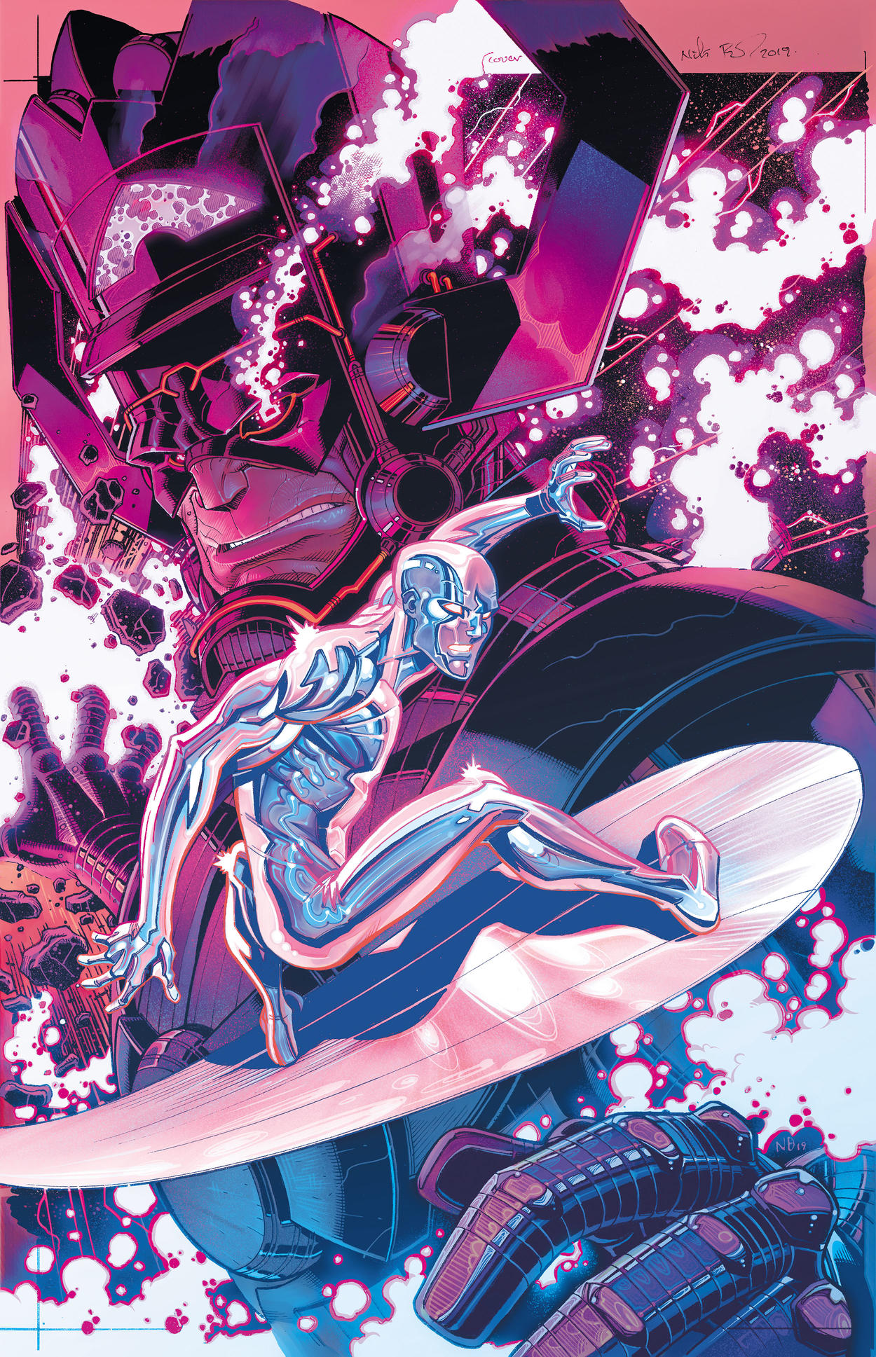Silver Surfer Black variant cover by Nick Bradshaw