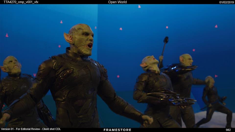 Captain Marvel Skrull fight