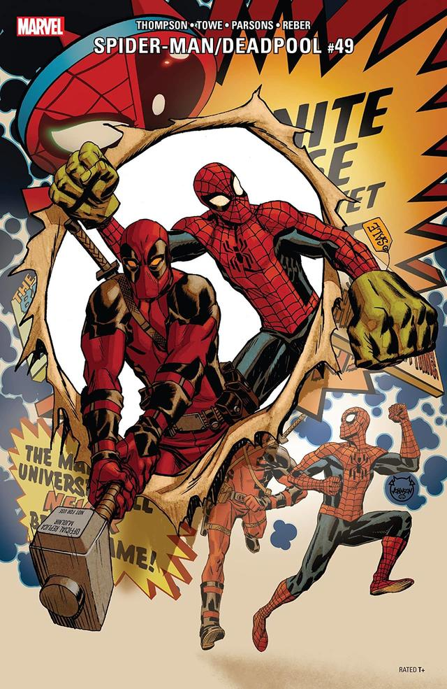 Spider-Man and Deadpool Make a Break for Meta in 'Spider-Man