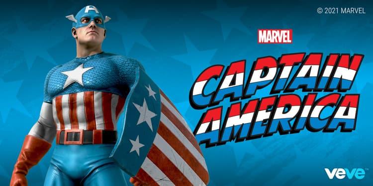 VeVe - Captain America Digital Statue Collectible