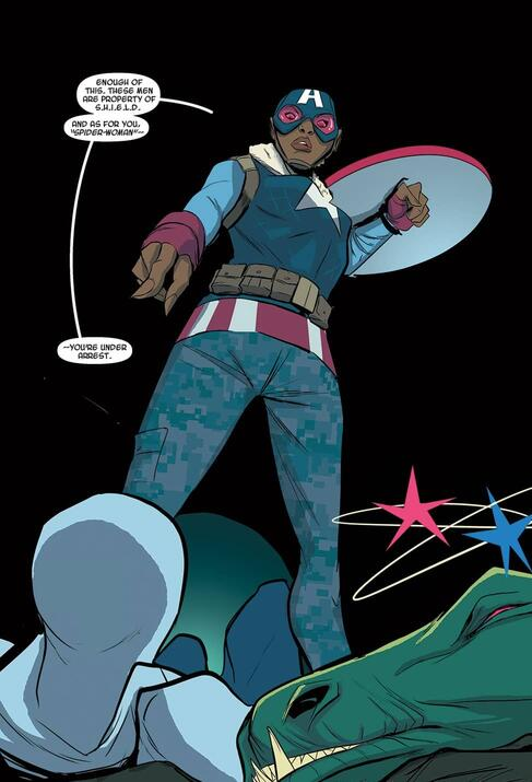 The first appearance of Samantha Wilson in SPIDER-GWEN (2015) #1.