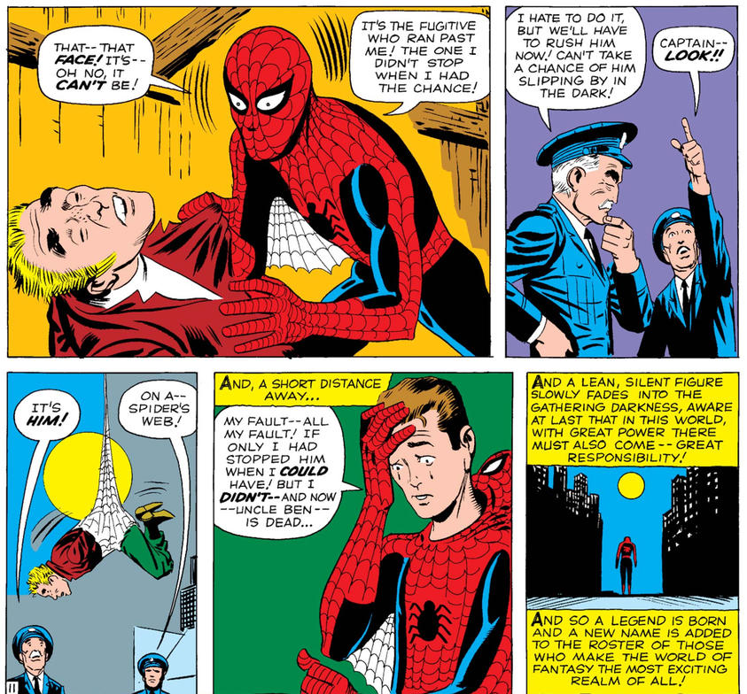 Spider-Man catches criminal who killed Uncle Ben