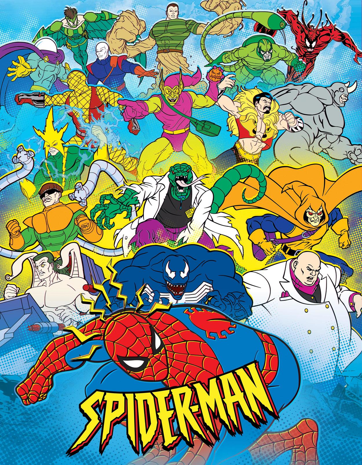 Spider-Man cartoon poster