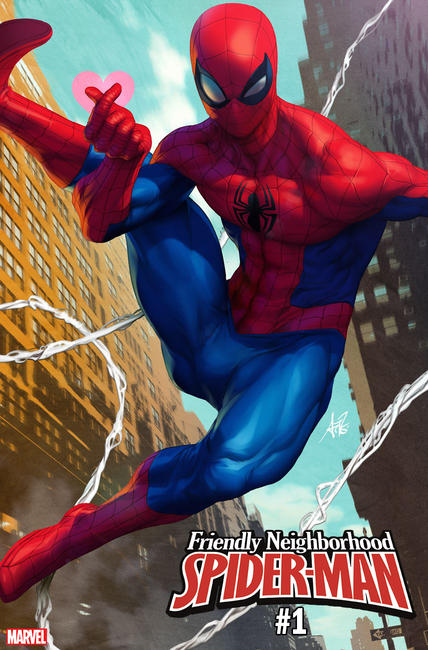 Friendly Neighborhood Spider-Man variant cover by Artgerm
