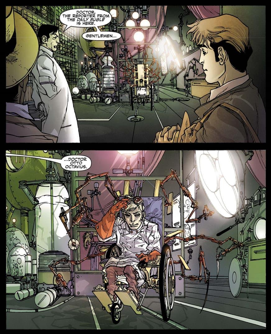 Peter meets Doc Ock Noir in Spider-Man Noir_Eyes Without a Face