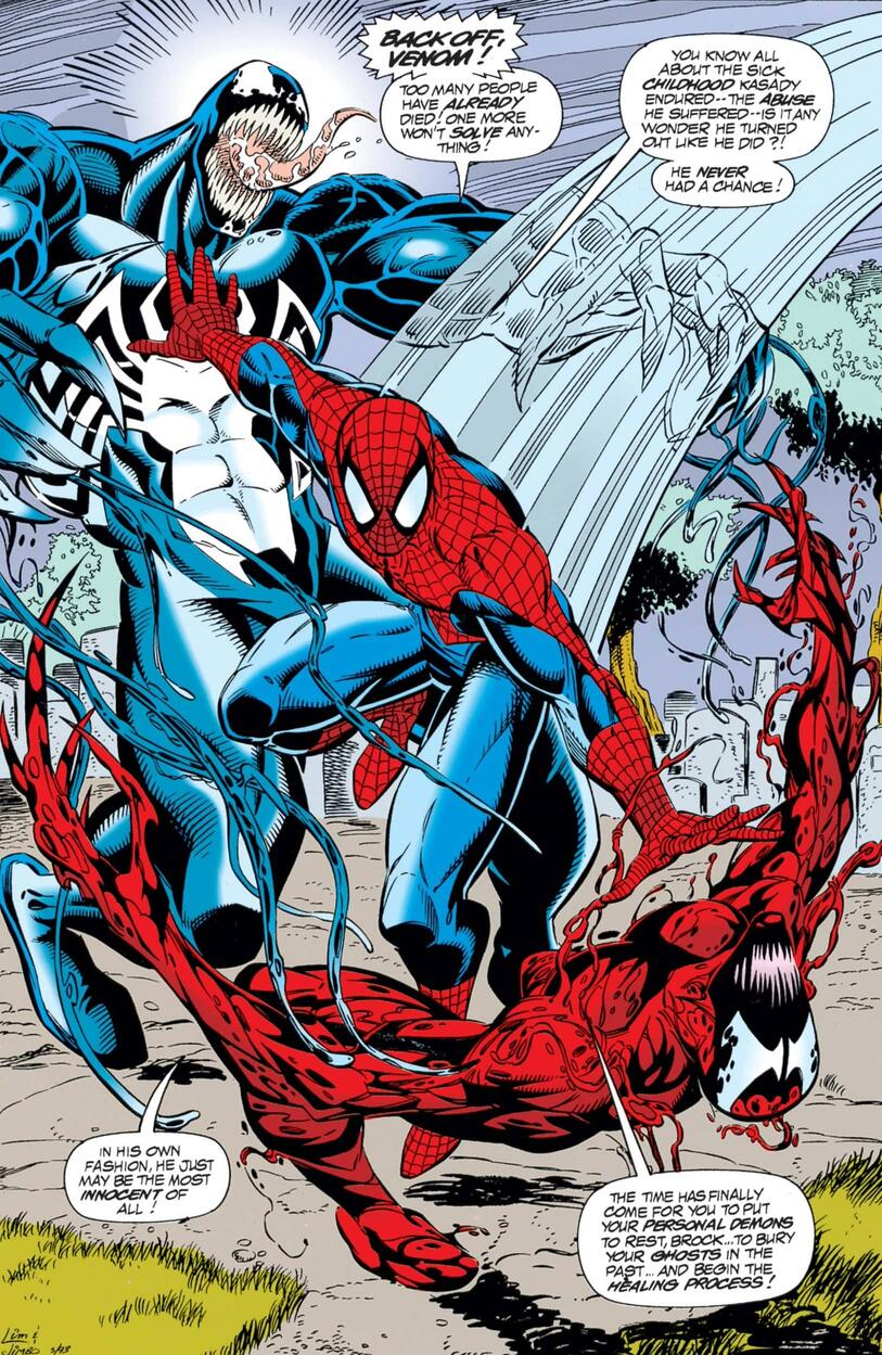 A symbiotic showdown from SPIDER-MAN UNLIMITED (1993) #2!
