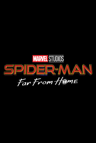 Spider-Man: Far From Home Movie Logo White Text On Black