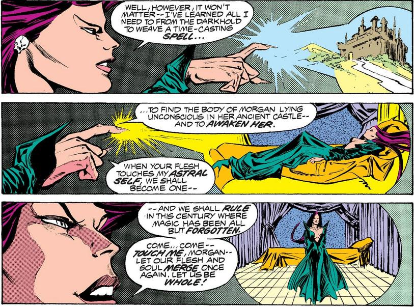Morgan le Fay and Spider-Woman