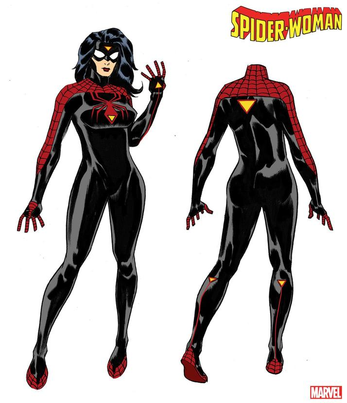 Spider-Woman's new costume by Dave Johnson