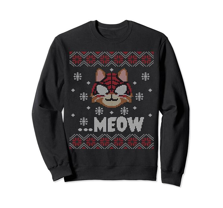 Marvel Spider-Man: Miles Morales Game Spider-Cat Holiday Sweatshirt