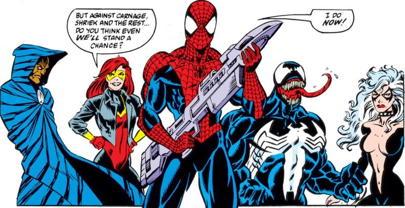Spider-Man Maximum Carnage team