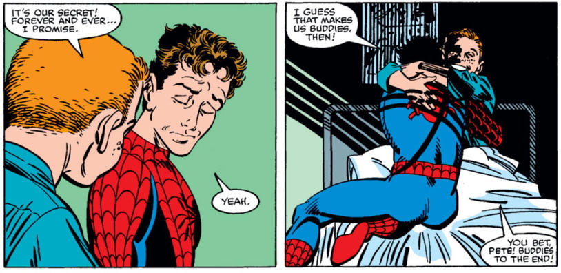 Peter Parker reveals his identity to sick kid