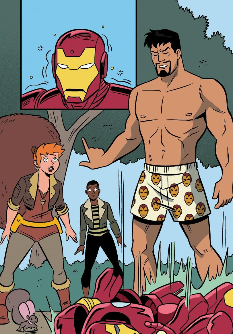 UNBEATABLE SQUIRREL GIRL #48 interior art by Derek Charm with colors by Rico Renzi