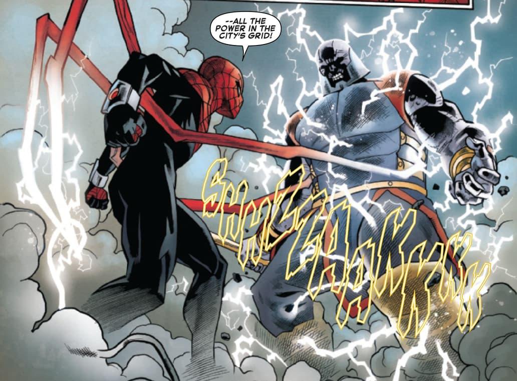 Superior Spider-Man fighting Terrax