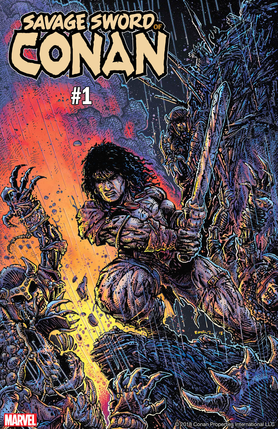 Savage Sword of Conan Cover by Kevin Eastman