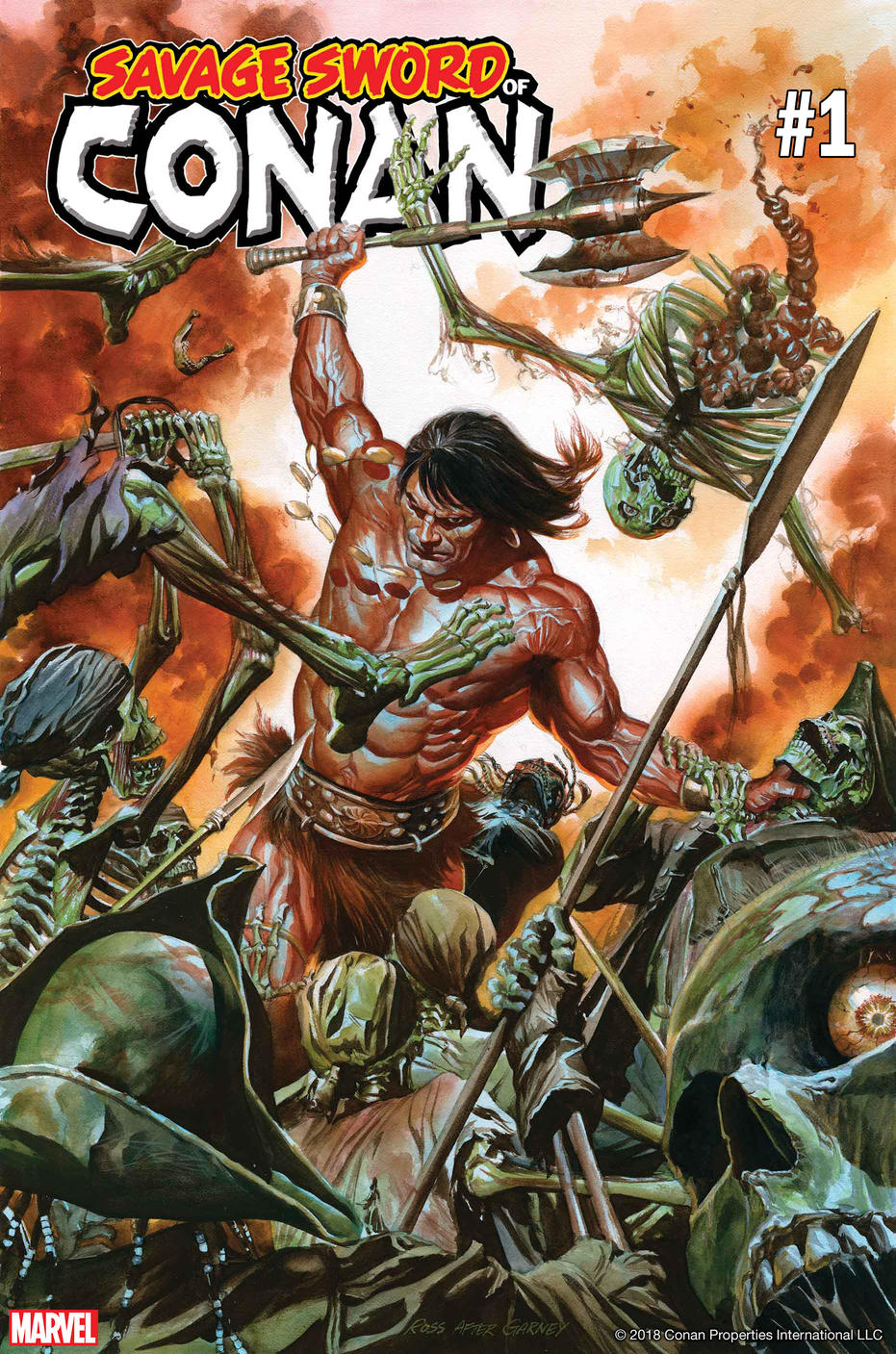 See Cover Art For Savage Sword Of Conan By Alex Ross Kevin Eastman And Ron Garney Marvel
