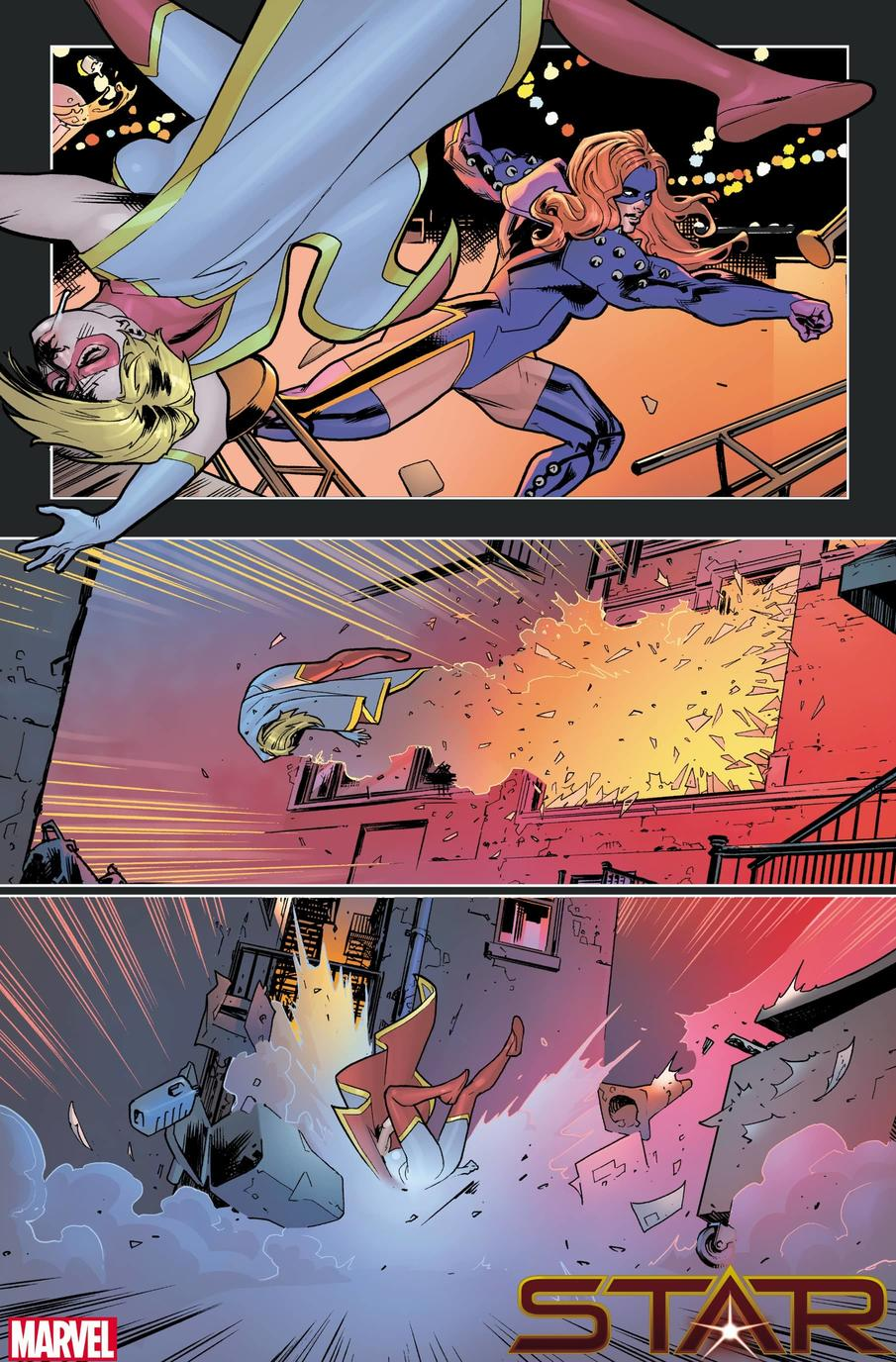 STAR #1 preview art by Javier Pina and Filipe Andrade with colors by Jesus Aburtov