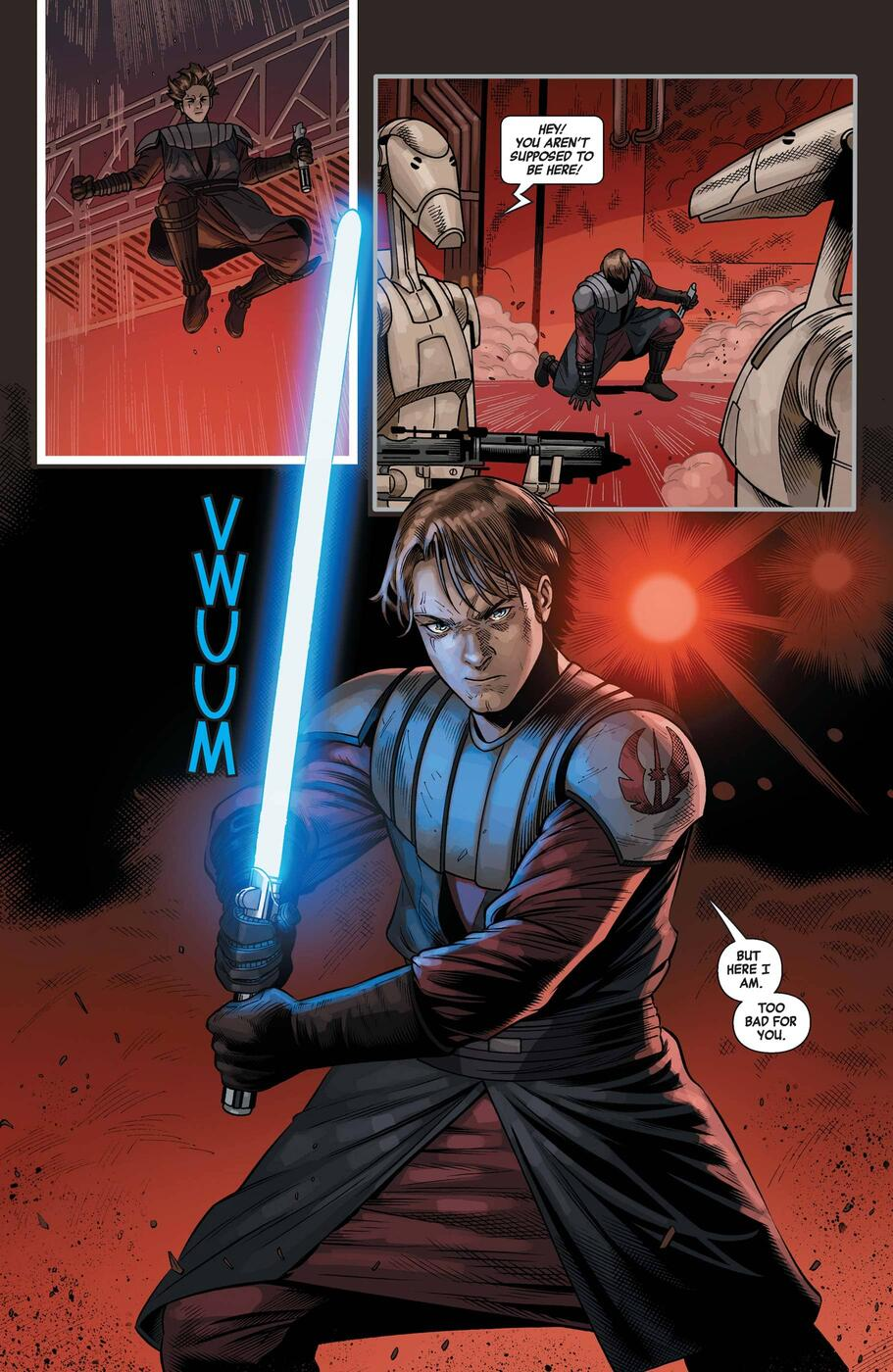 Anakin enraged at the use of slaves in STAR WARS: AGE OF REPUBLIC - ANAKIN SKYWALKER (2019) #1.