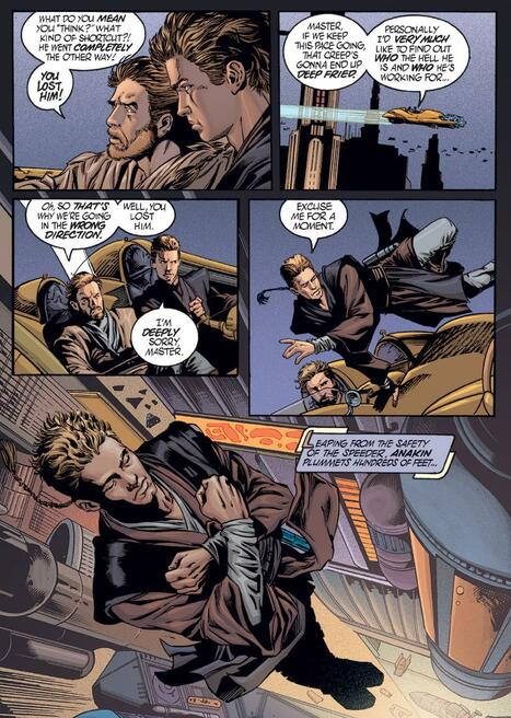 Anakin acts like a showoff in STAR WARS: EPISODE II - ATTACK OF THE CLONES (2002) #1.