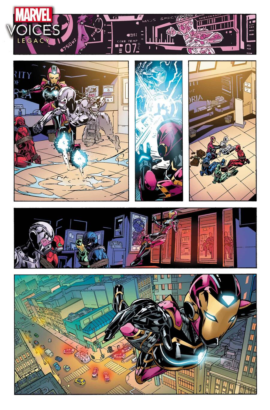 MARVEL'S VOICES: LEGACY #1 preview art by Chris Allen, colors by Rachelle Rosenberg